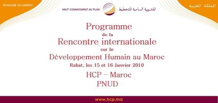Programme de la Rencontre internationale sur le Développement Humain au Maroc